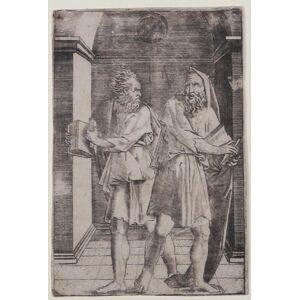 """Due figure maschili Agostino de MUSI detto """"Agostino VENEZIANO"""" [ ]"""