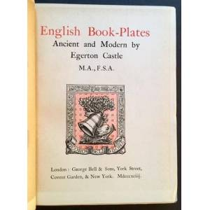 English Book-Plates: Ancient and Modern Egerton Castle [Very Good] [Hardcover]