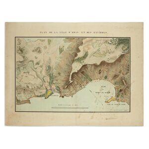 [ALGERIA] Plan de la ville d'Oran et des environs. Metz, 3 September 1838 [ALGERIA] [ ] [Hardcover]