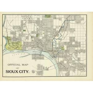 Official Map of Sioux City   [ ]