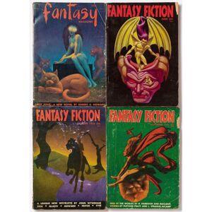 Fantasy Fiction Magazine 1-4 [Complete] (DICK, Philip K., Robert E. Howard, Hannes Bok, et al.) [Very Good] [Softcover]