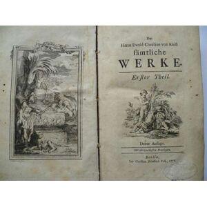 Sämtliche Werke. von Kleist, Ewald Christian [ ] [Hardcover]