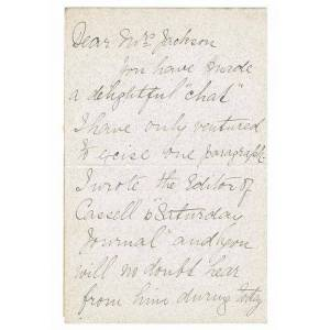 AUTOGRAPH NOTE SIGNED, regarding a magazine article Davies, Mary (1855-1930). Welsh mezzo-soprano [Good] [Softcover]