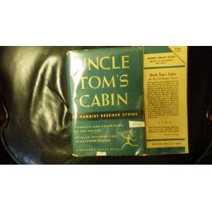 UNCLE TOM'S CABIN: OR LIFE AMONG THE LOWLY, 1948, STATED 1ST ML EDITION, ML#261, Compete & Unabridged in One volume, in dark Green DJ with black Bann