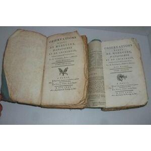 Observations rares de médecine, d'anatomie et de chirurgie, traduite du latin de M. Vander-Wiel, par M. Planque, docteur en médecine. Paris. Nyon - L
