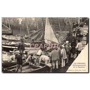 Le Croisic Carte Postale Ancienne Debarquement de la sardine (pêche pêcheurs) TOP   [ ]