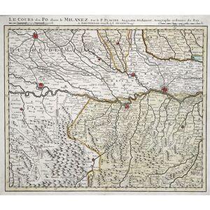 """Kupferstich- Karte, n. Placide b. R. & J. Ottens, """"Le Cours du Po dans Milanez"""". PAVIA - CREMONA ( Umgebung /Territori ): [ ]"""