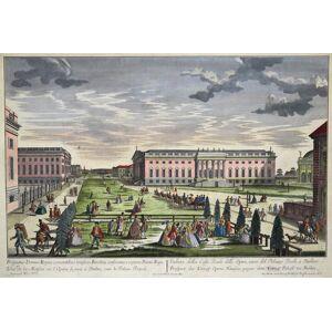 Prospectus Domus Regie concentibus Musicis Berolini consecratae e regione palatii regii - Veduta della Casa Reale delle Opere . - Vue de la Maison .