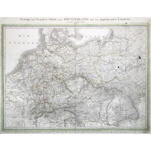 Kupferstich- Karte, n. I.M.F. Schmidt bei Simon Schropp & Comp.,