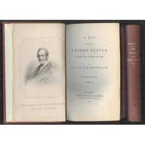 United A Run Through the United States During the Autumn of 1840. 2 Volumes. MAXWELL, A.M. [Very Good] [Hardcover]