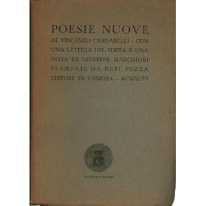 Poesie nuove Vincenzo Cardarelli [ ]