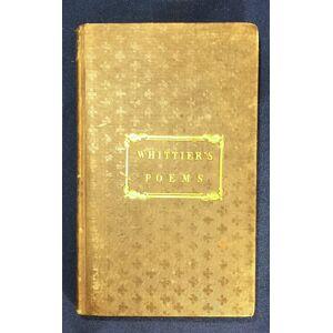 POEMS; By John G. Whittier Whittier, John Greenleaf [Good] [Hardcover]
