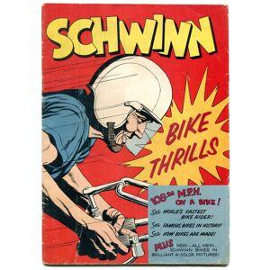 SCHWINN BIKE THRILLS 1958 BICYCLE COMICS SPEED RECORDS G/VG   [Good] [Hardcover]