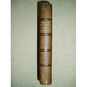 Journal, lettres et poèmes. Publiés avec l'assentiment de sa famille Guérin, Maurice de [1810-1839] [ Trébutien, Guillaume Stanislas (1800-1870); edi