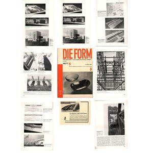 DIE FORM. Zeitschrift für gestaltende Arbeit. 6. Jahrgang, Heft 05 / 1931 (15.05.1931). Berlin, Reckendorf; 21,0 x 29,7 cm. Schwarzweiss-Aufnahmen u.