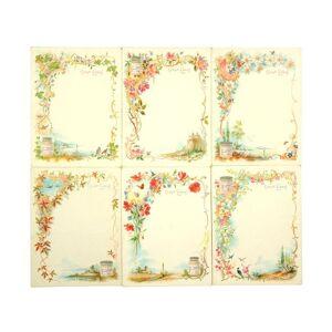 Serie von 6 Tischkarten. [Liebig - Tischkarten]. [ ]