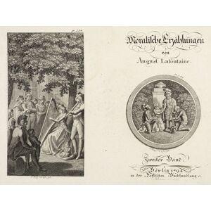 Penzel, Johann Georg. - Moralische Erzählungen (Lafontaine). - Frontispiz & gest. Titelblatt. August Lafontaine [ ]