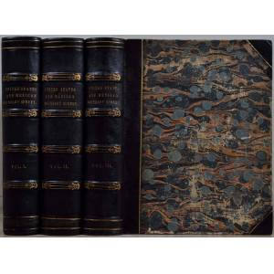 United REPORT ON THE UNITED STATES AND MEXICAN BOUNDARY SURVEY, Made Under the Direction of the Secretary of the Interior. Three volume set. Emory, William