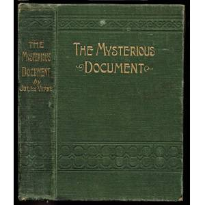 The Mysterious Document Verne, Jules [Fair] [Hardcover]