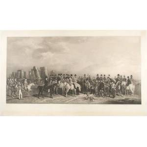 THE WILTSHIRE GREAT COURSING MEETING HELD AT AMESBURY, 16th - 20th MARCH 1847, with STONEHENGE BEYOND [BARRAUD, William (1810 - 1850), engraved by G.