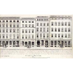 Hamburgs Neubau, Blatt 15. Großer Burstah, Blatt 3. Federlithographie im Verlag von Charles Fuchs. Hamburg - [ ]