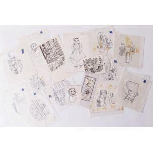 A Selection of Original Art for Open the Door Margery Fisher [illus. Leslie Marshall, Harold Jones etc.] [Near Fine]