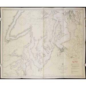 United States - West Coast Washington Puget Sound Seattle to Olympia. No. 6460. WASHINGTON STATE - PUGET SOUND) [ ]