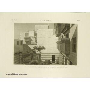 Le Kaire. Vue Interieure de l'une des Cours de la Maison d'Hasan Kachef. CAIRO) Conte (drawn by). Berthault (engraved by). [ ]