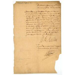 "Document signed (""W. de Nassau""). William III (of Orange-Nassau), King of England (1650-1702). [ ]"