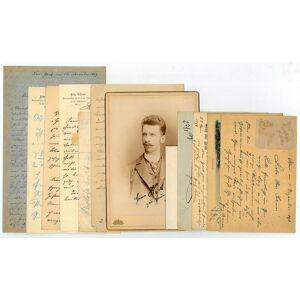 6 eigenh. Briefe, 4 eh. (Bild-)Postkarten mit U. sowie 1 Kabinettphotographie mit eh. Widmung, Datum und U. auf der Bildseite. Lehner, Fritz, Kapellm
