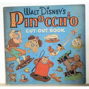Disney Walt Disney's Pinocchio Cut-Out-Book Walt Disney [Very Good] [Softcover]