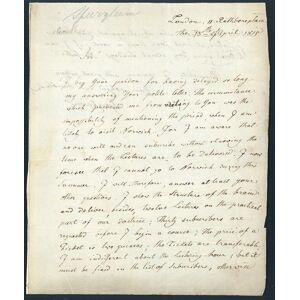 Autograph letter signed to Thos. Martineau Jr. Spurzheim, Johann Gaspar [ ]