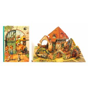 Peter and Sally on the Farm. [Pop-up Book] [Vojt ch Kuba ta]. [ ] [Softcover]