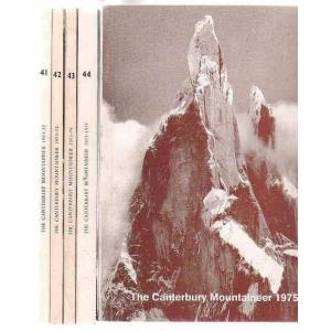 The Canterbury Mountaineer: Journal of the Canterbury Mountaineering Club. 5 issues, Nos. 41, 42, 43, 44 & 45. 1971-72, 1972-73, 1973-74, 1925-75 (Ju