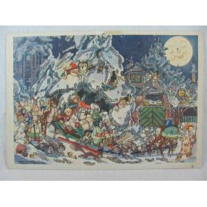 Adventskalender Weihnachtsmann mit Schlitten. Tobel, Hedwig zum: [ ]