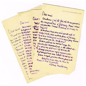 Correspondance de 4 LAS. Mirbeau, Octave, écrivain (1848-1917). [ ]