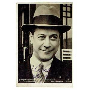 """Photograph postcard dated and signed, """"J.R. Capablanca"""". Capablanca, José Raúl, Cuban chess player who was world chess champion from 1921 to 1927 (18"""