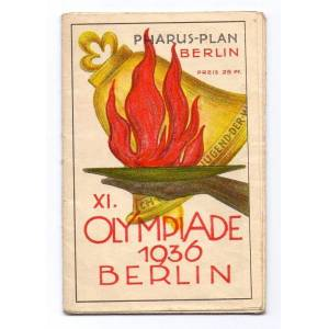 Pharus-Plan Berlin XI. Olympiade 1936 Berlin.   [ ]