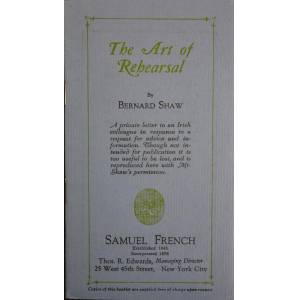 The Art of Rehearsal Shaw, [George] Bernard [ ] [Softcover]