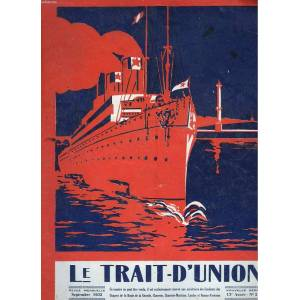 LE TRAIT-D'UNION, REVUE MENSUELLE, SEPTEMBRE 1932. 13e ANNEE, N°21. ATMOSPHERES DE COMMINGES. INSTANTANE DE COURSE. LE GRAND PRIX DES MOTOS / GRAND P