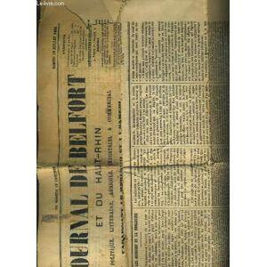 JOURNAL DE BELFORT ET DU HAUT-RHIN - POLITIQUE, LITTERAIRE, AGRICOLE, INDUSTRIEL & COMMERCIAL - N°56 - SAMEDI 12 JUILLET 1884 - les ouvriers et la mo