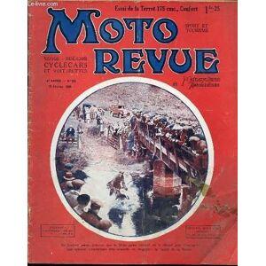 MOTO REVUE ET MOTOCYCLISME AUTOMOBILISME N°258 / 18 FEVRIER - CE QU'ON FAIT AVEC UN BIDON D'ESSENCE / LA TERROT 175 CMC CONFORT / CRITIQUES ET DOLEAN