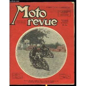 MOTO REVUE N° 956 - LA 125 CMC. M.V. Agusta de compétition, Les motocyclettes françaises d'avant-guerre, Le sidecar (suite), Un projet pour le règlem