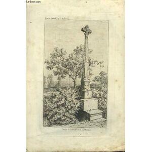 Gravure originale de la Croix de Carrefour de Faleyras, tirée de la Revue Catholique de Bordeaux. DROUYN Léo [Near Fine] [Softcover]