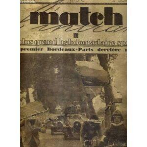 MATCH L'INTRAN N° 247 - 2 juin 1931 / le premier Bordeaux-Paris derrière motos / le problème de la saison olympique se pose / le simples dames et le