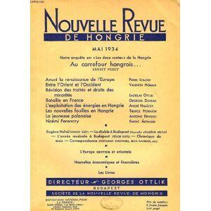 NOUVELLE REVUE DE HONGRIE, TOME L, 5e LIVRAISON, MAI 1934, AU CARREFOUR HONGROIS., ERNEST PEZET COLLECTIF [Near Fine] [Softcover]