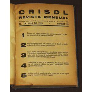 Crisol Revista Mensual. Números 55-60. Borquez, Djed ; Herrera, Alfonso ; Ramos, Leopoldo [Good] [Hardcover]