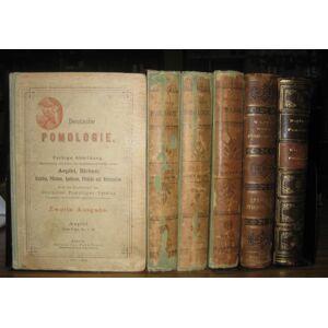 Deutsche Pomologie. 9 Teile in 6 Bänden komplett: Äpfel 1 und 2 / Birnen 1 und 2 / Kirschen und Pflaumen / Aprikosen, Pfirsiche und Trauben (Wein). Z