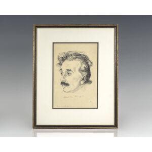Albert Einstein Signed Etching. Einstein, Albert; Hermann Struck [ ]