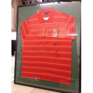 Rory McIlroy signed plus the rest of the team 2009 Vivendi Trophy Golf Shirt The Winning Team, Great Britain and Ireland Paul McGinley Captain et al.